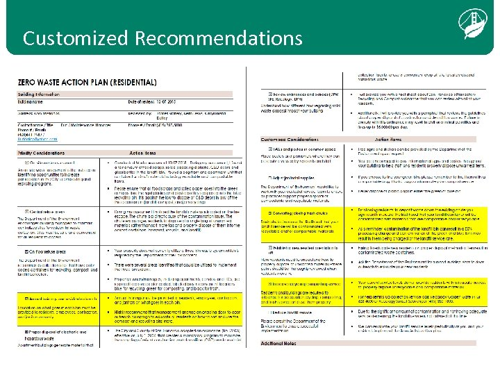 Customized Recommendations