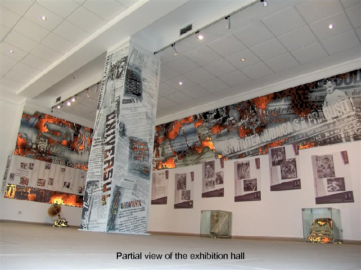 Partial view of the exhibition hall