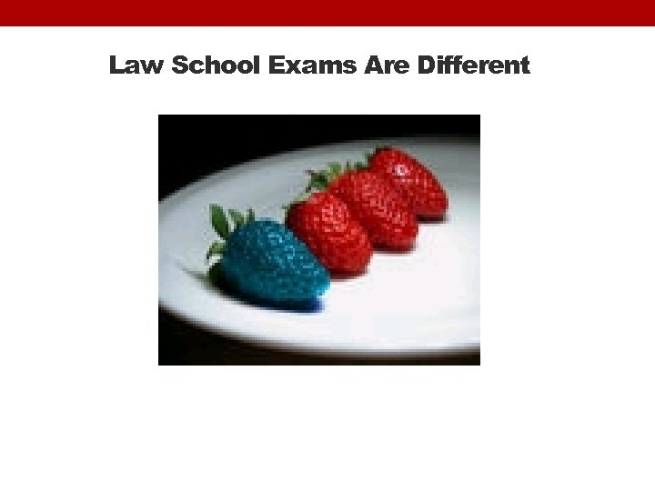 Law School Exams Are Different
