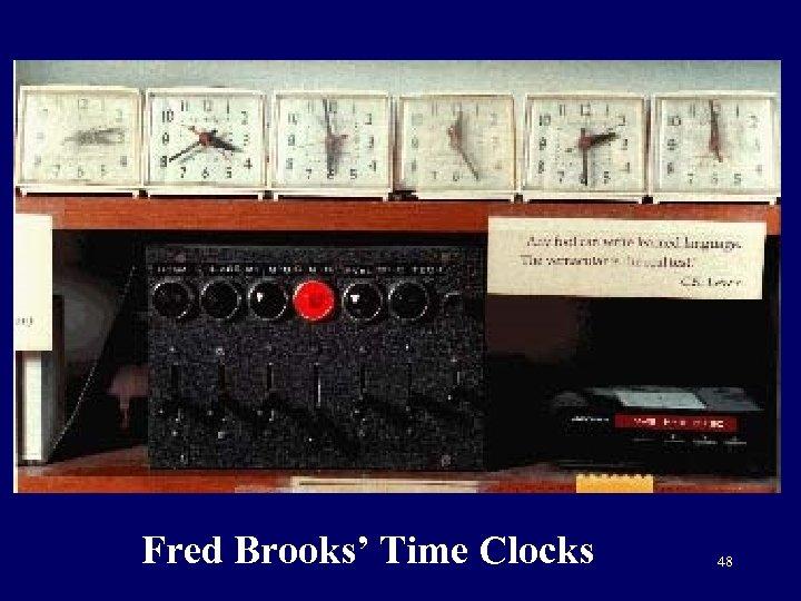 Fred Brooks' Time Clocks 48