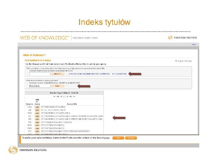 Indeks tytułów