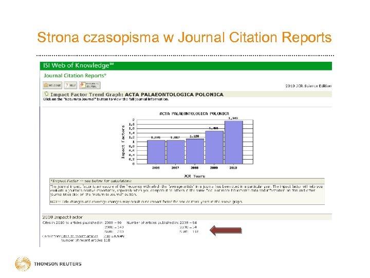 Strona czasopisma w Journal Citation Reports
