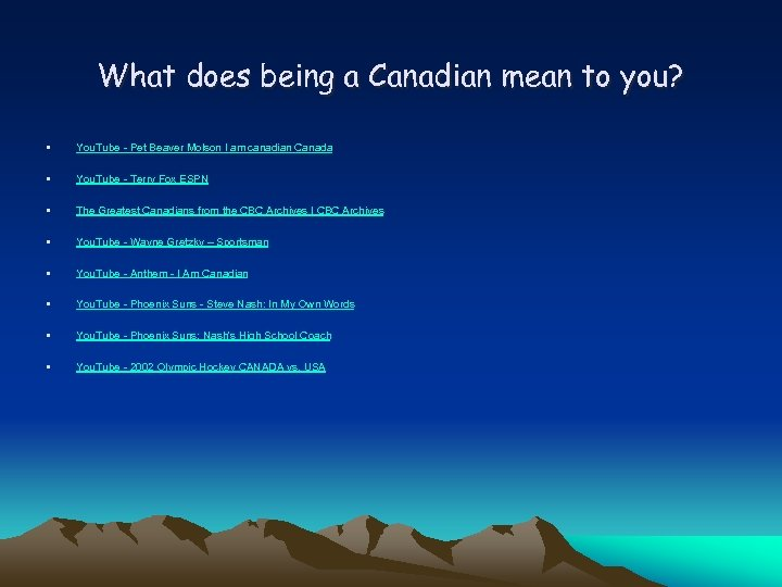 What does being a Canadian mean to you? • You. Tube - Pet Beaver