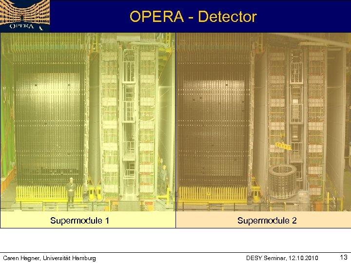 OPERA - Detector Supermodule 1 Caren Hagner, Universität Hamburg Supermodule 2 DESY Seminar, 12.