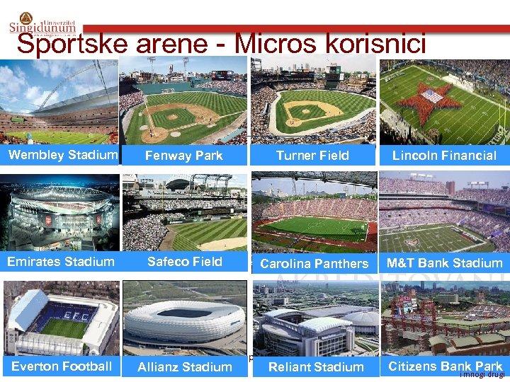 Sportske arene - Micros korisnici Wembley Stadium Fenway Park Turner Field Lincoln Financial Emirates