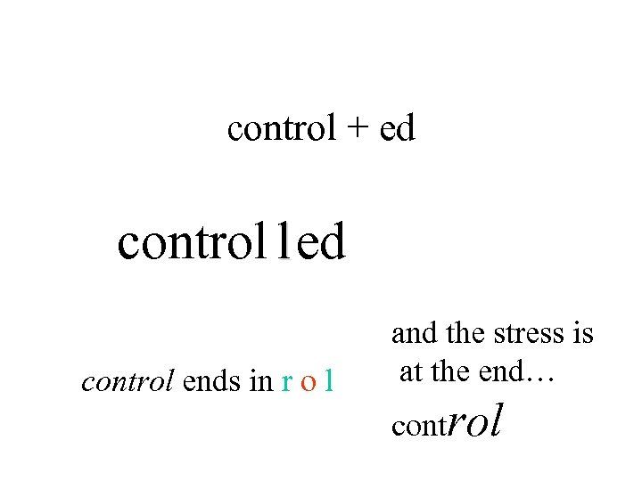 control + ed control l ed control ends in r o l and the