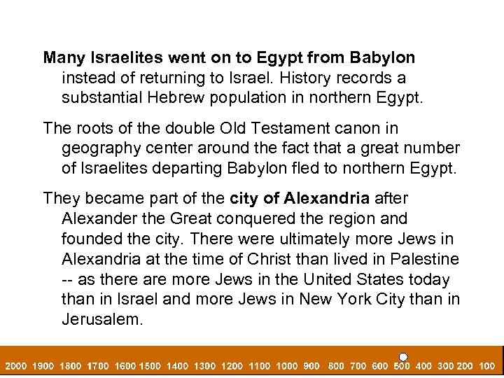 Many Israelites went on to Egypt from Babylon instead of returning to Israel. History