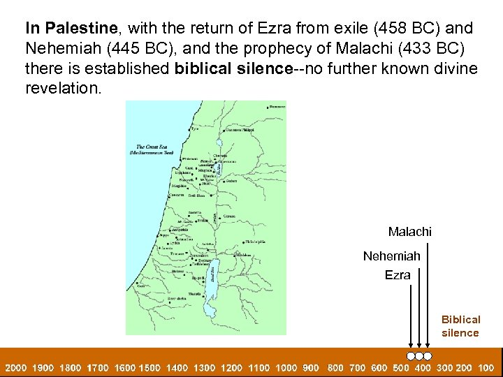 In Palestine, with the return of Ezra from exile (458 BC) and Nehemiah (445
