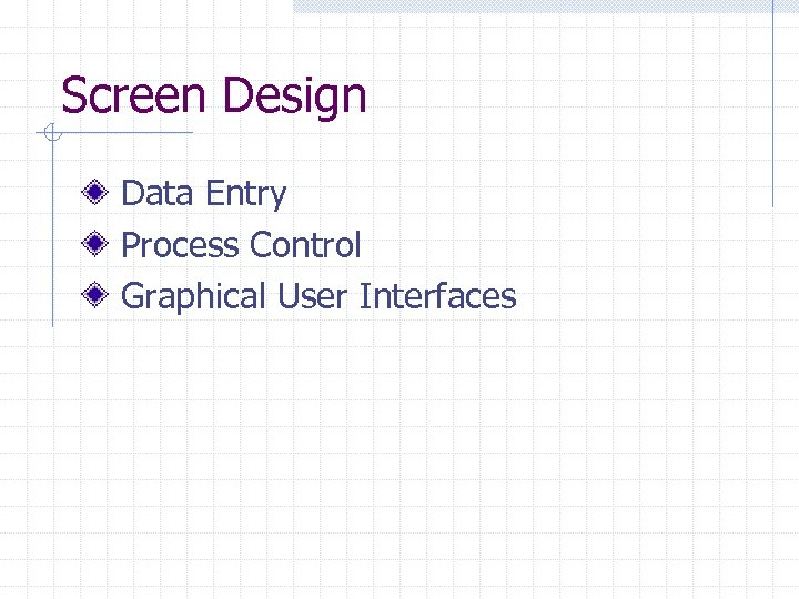 Screen Design Data Entry Process Control Graphical User Interfaces