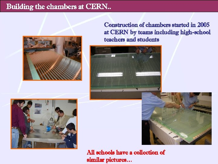 Building the chambers at CERN. . Construction of chambers started in 2005 at CERN