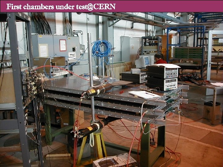 First chambers under test@CERN