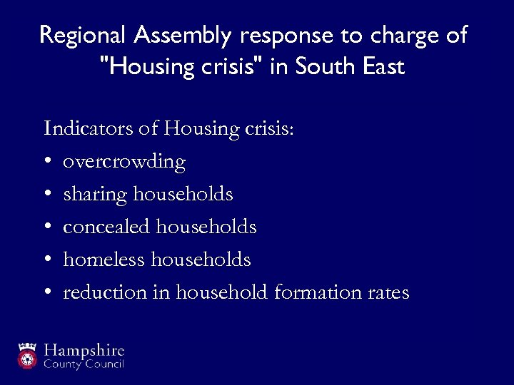 Regional Assembly response to charge of
