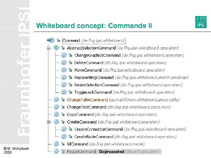 Whiteboard concept: Commands II © M. Mühlpfordt 2006 Depreceated