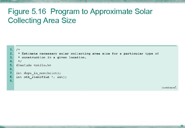 Figure 5. 16 Program to Approximate Solar Collecting Area Size 59