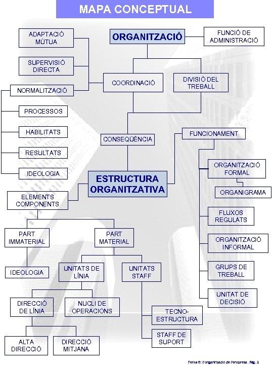 MAPA CONCEPTUAL ADAPTACIÓ MÚTUA FUNCIÓ DE ADMINISTRACIÓ ORGANITZACIÓ SUPERVISIÓ DIRECTA DIVISIÓ DEL TREBALL COORDINACIÓ