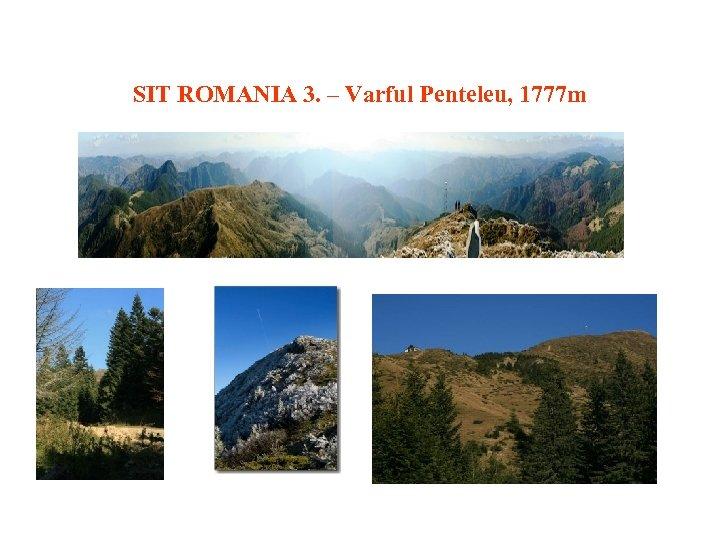 SIT ROMANIA 3. – Varful Penteleu, 1777 m