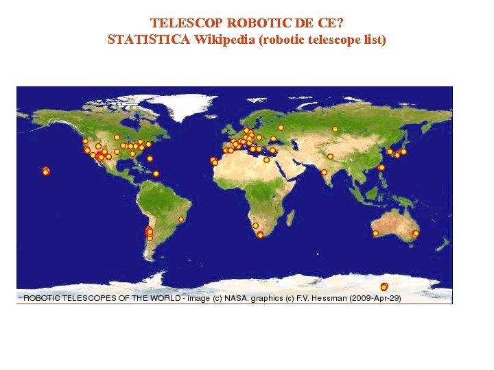 TELESCOP ROBOTIC DE CE? STATISTICA Wikipedia (robotic telescope list)