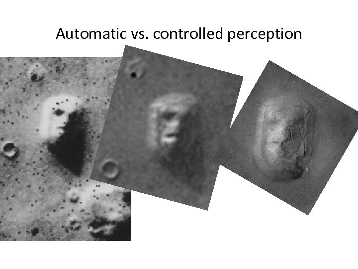 Automatic vs. controlled perception