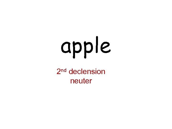 apple 2 nd declension neuter