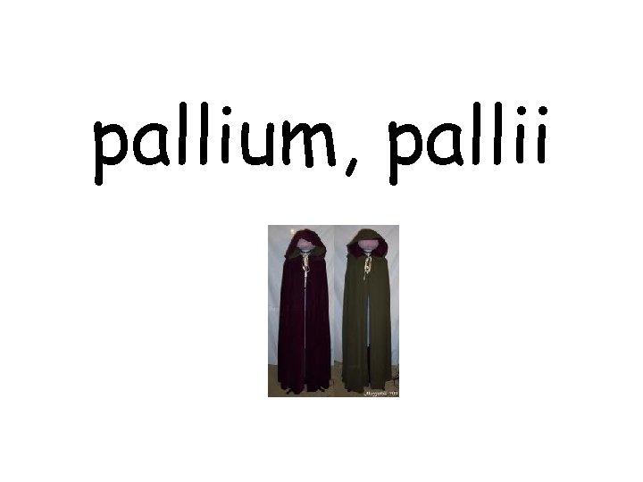 pallium, pallii