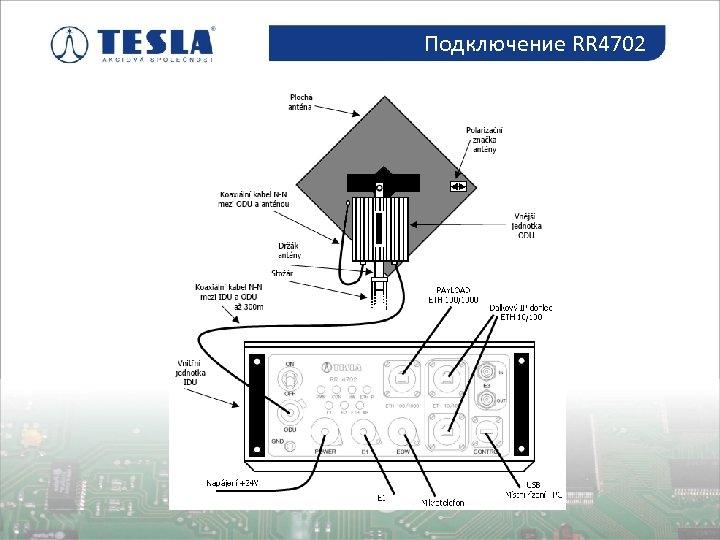 Подключение RR 4702 Osazování plošných spojů
