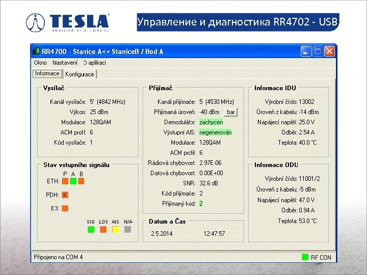 Управление и диагностика RR 4702 - USB Slaboproudé montáže