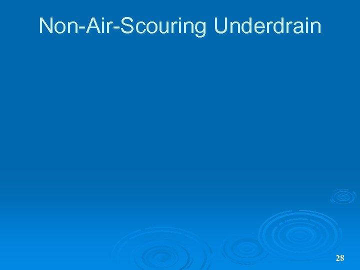 Non-Air-Scouring Underdrain 28
