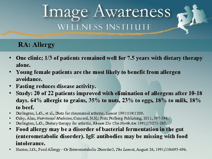 RA: Allergy • One clinic; 1/3 of patients remained well for 7. 5 years