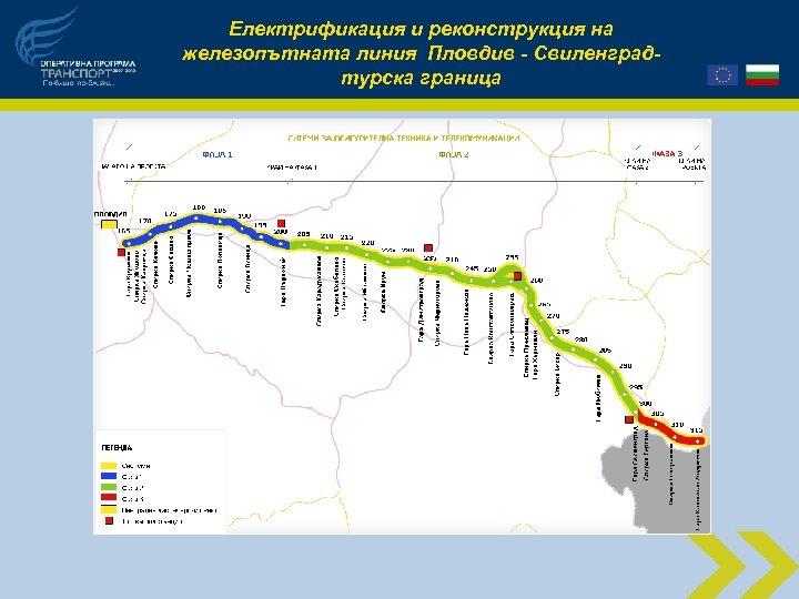 Електрификация и реконструкция на железопътната линия Пловдив - Свиленградтурска граница