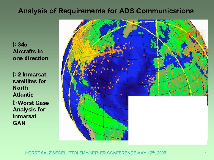 Analysis of Requirements for ADS Communications w 345 Aircrafts in one direction w 2