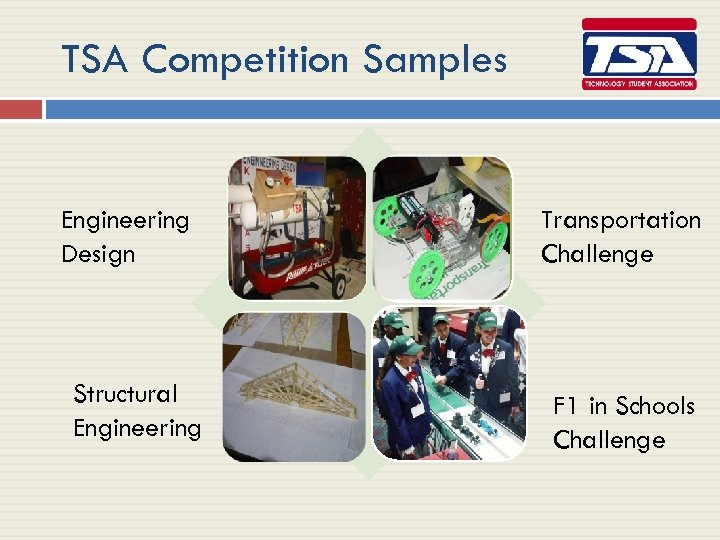 TSA Competition Samples Engineering Design Structural Engineering Transportation Challenge F 1 in Schools Challenge