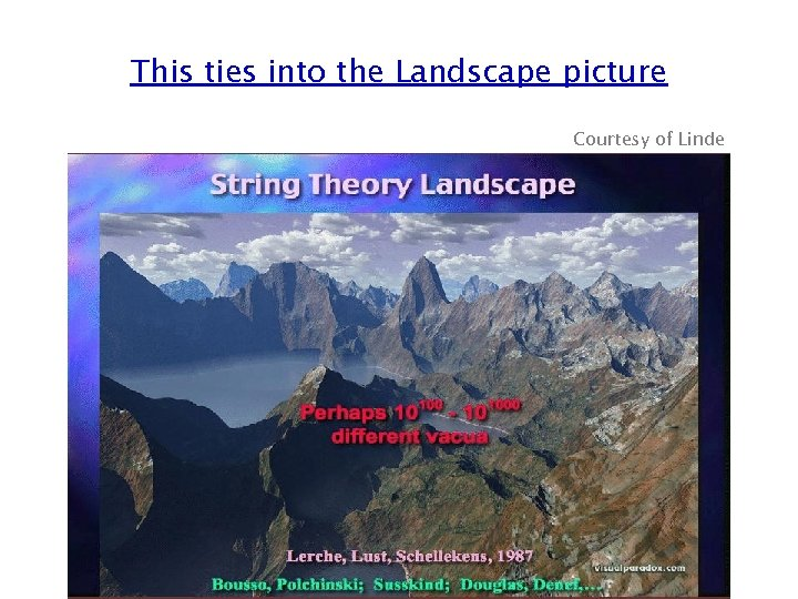 This ties into the Landscape picture Courtesy of Linde