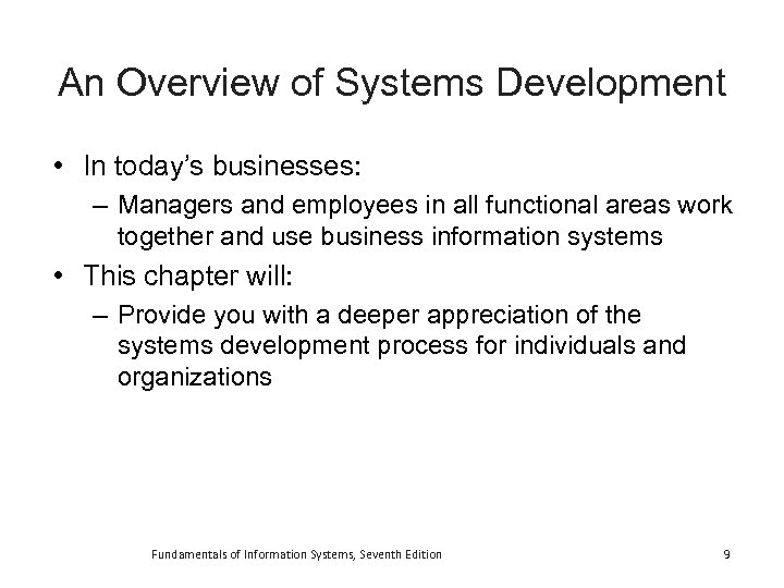 fundamentals of business systems development Read this essay on bsa 375 (fundamentals of business systems development) complete class - all dqs, individual and team assignments/ homework-aid come browse our large digital warehouse of free sample essays get the knowledge you need in order to pass your classes and more only at termpaperwarehousecom.