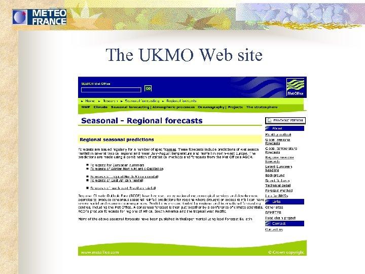 The UKMO Web site