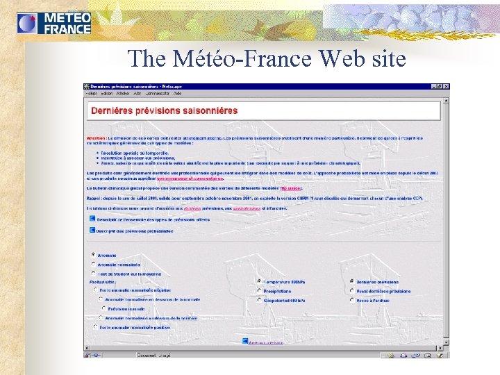 The Météo-France Web site