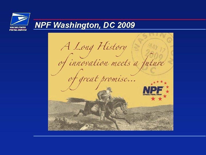NPF Washington, DC 2009