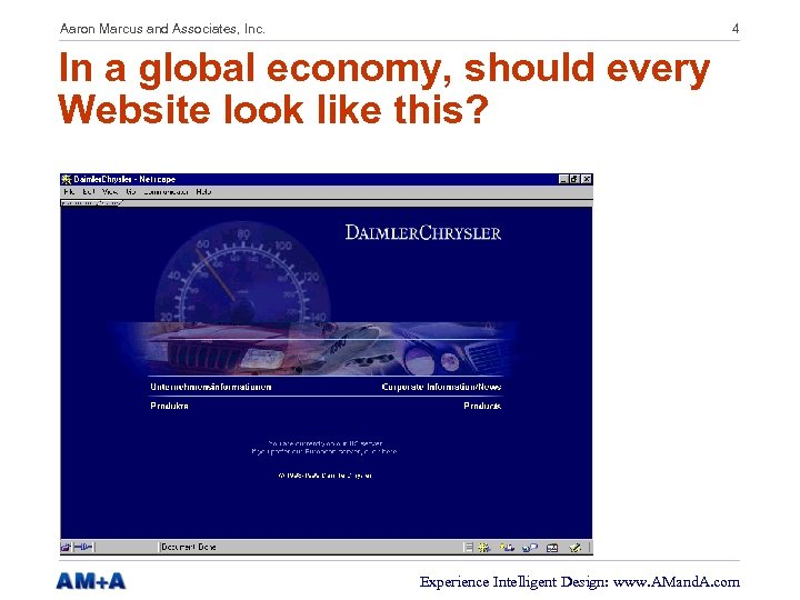 Aaron Marcus and Associates, Inc. 4 In a global economy, should every Website look
