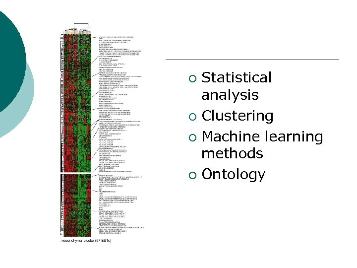 Statistical analysis ¡ Clustering ¡ Machine learning methods ¡ Ontology ¡