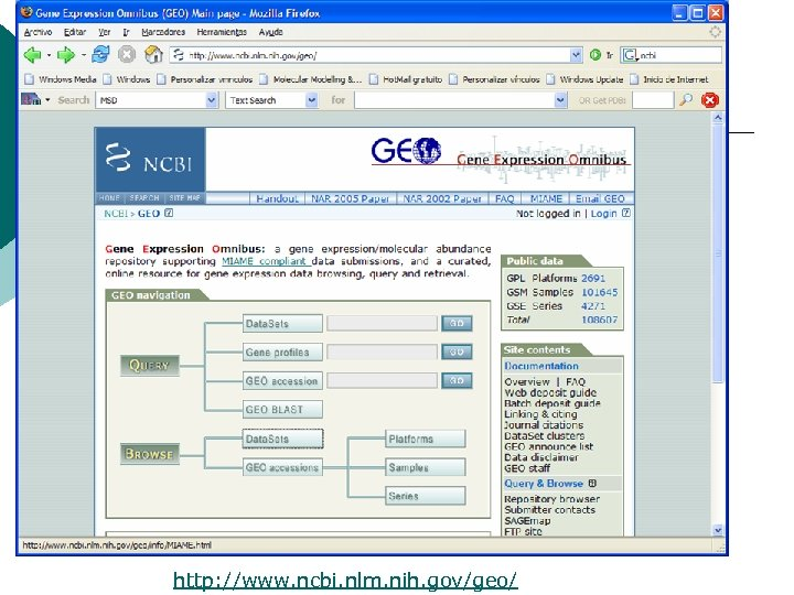 http: //www. ncbi. nlm. nih. gov/geo/