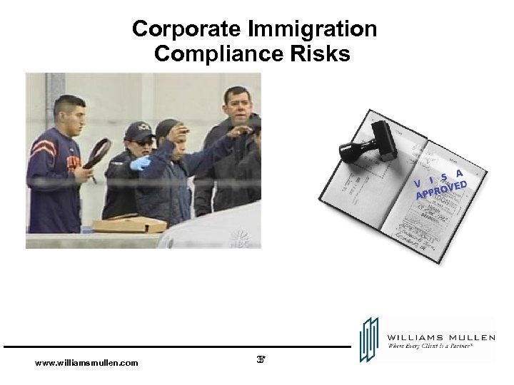 Corporate Immigration Compliance Risks www. williamsmullen. com 3* 3