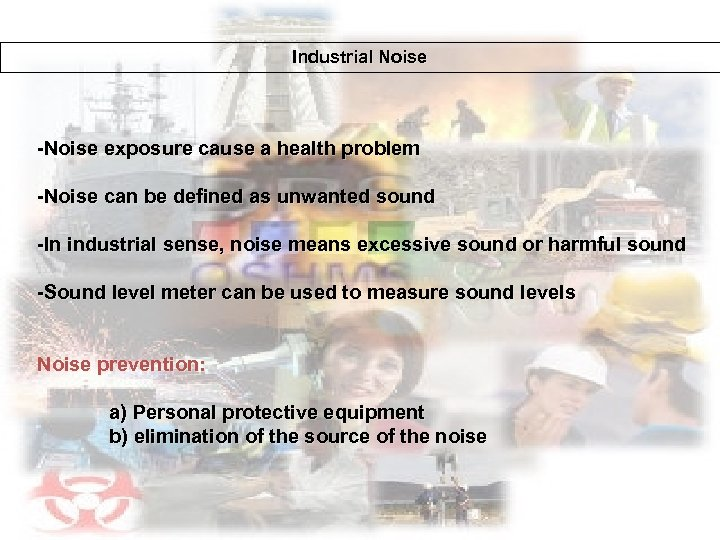 ` Industrial Noise -Noise exposure cause a health problem -Noise can be defined as
