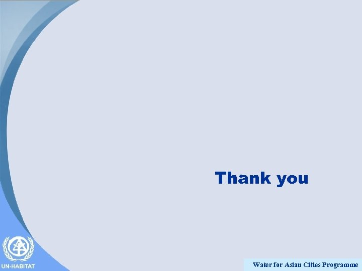 Thank you Water for Asian Cities Programme