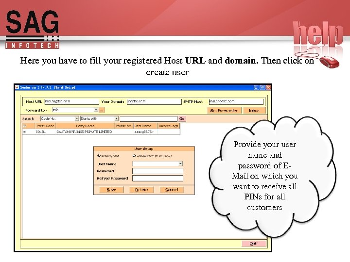 Here you have to fill your registered Host URL and domain. Then click on