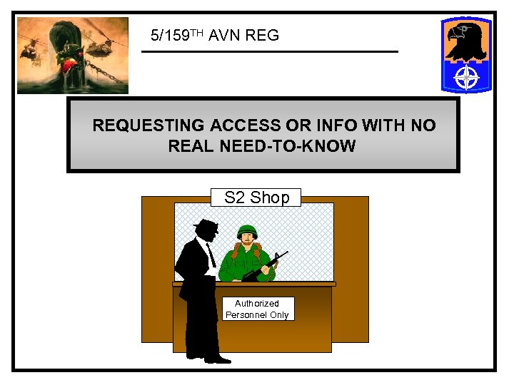 5/159 TH AVN REG REQUESTING ACCESS OR INFO WITH NO REAL NEED-TO-KNOW S 2