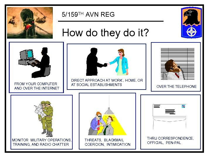 5/159 TH AVN REG How do they do it? FROM YOUR COMPUTER AND OVER