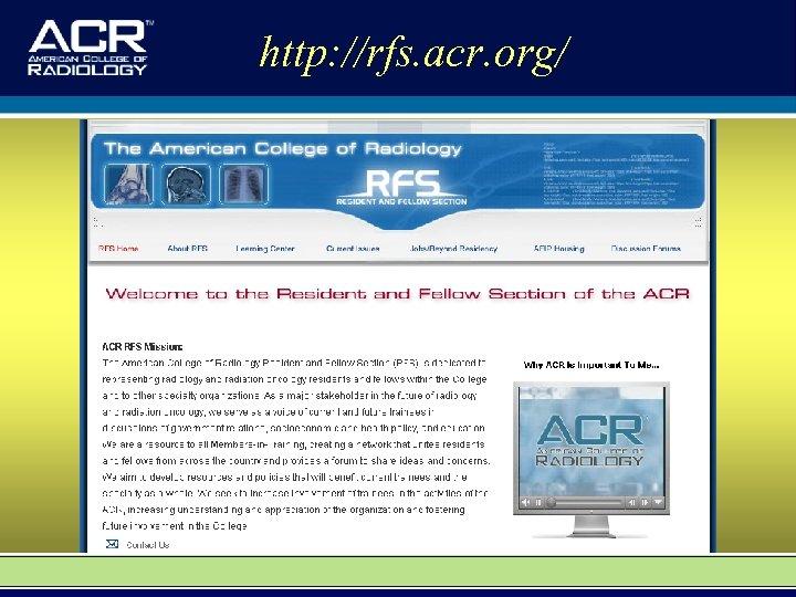http: //rfs. acr. org/
