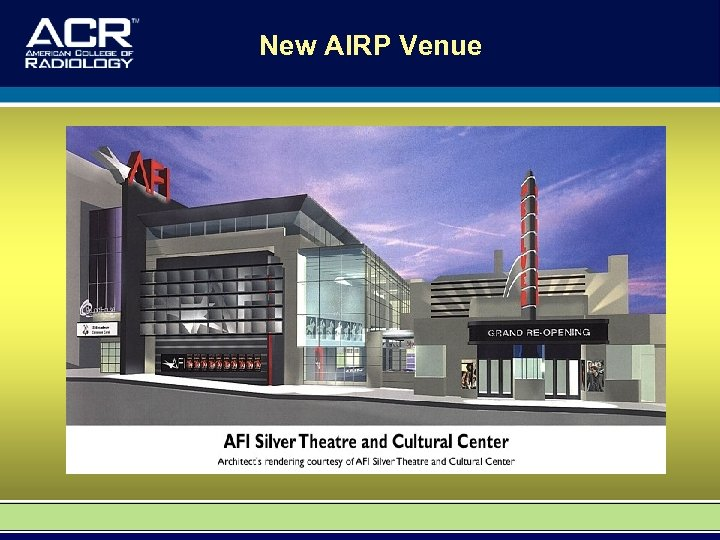 New AIRP Venue