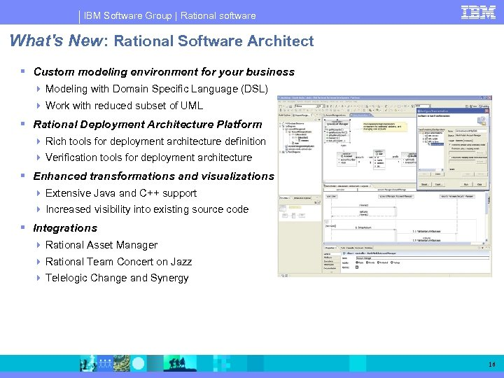 IBM Software Group | Rational software What's New: Rational Software Architect Custom modeling environment