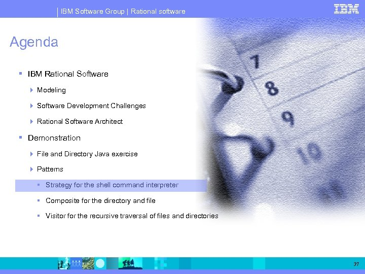 IBM Software Group | Rational software Agenda IBM Rational Software Modeling Software Development Challenges