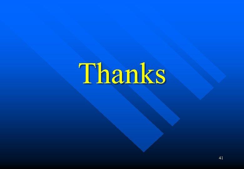 Thanks 41